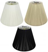 "Empire Silk String Lamp Shade 6 Colors 8-20""W"