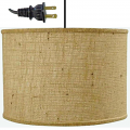 "Burlap Drum Swag Lamp Cord Hung 15""W - Sale !"