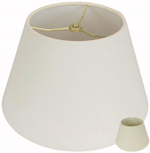 """Rolled Edge Linen Swing Arm Lamp Shade 12""""W"""