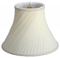 "Swirl Twist Pleated Bell Silk Lamp Shade Cream, White 14-16""W"