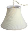"Swirl Pleated Bell Silk Plug In Swag Lamp 14-16""W"