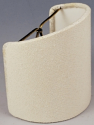 "Linen Sconce Shade Cream, White, Beige 4""W"