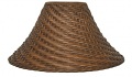 "Dark Tea Bell Coolie Wicker Lamp Shade 20""W"