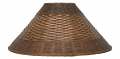 "Dark Coolie Dual Weave Rattan Shade 21""W"