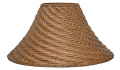 "Light Tea Bell Coolie Wicker Lamp Shade 20""W"