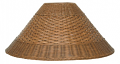 "Light Coolie Dual Weave Rattan Shade 21""W"