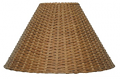 "Tapered Empire Wicker Rattan Lamp Shade 17-19""W"