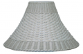 "Whitewash Bell Dual Weave Wicker Shade 12.5-20""W"