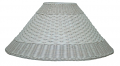"Whitewash Coolie Dual Weave Wicker Shade 21""W"