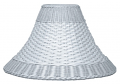"White Dual Weave Bell Wicker Shade 12.5-20""W"