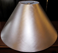 "Cross Hatch Texture Matte Finish Custom Metal Lamp Shade 6""x14""x11""; 6""x16""x11""; 7""x18""x12""; 7""x22""x13""; 8""x24""x14"""