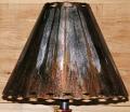 Dark Rust Southwestern Metal Lamp Shade