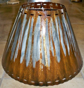 "Mild Rust Patina Southwestern Border Metal Lamp Shade Sizes 4""-20"" wide"
