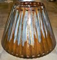 "Mild Rust Southwestern Metal Lamp Shade 4-20""W"