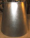 Tall Tapered Raw Metal Lamp Shade
