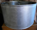 Raw Steel Metal Drum Lamp Shade