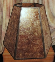 Large Hexagon Mica Lamp Shade