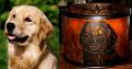 Custom Metal Cutout Dog Scene Mica Lamp Shade