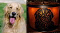Metal Cutout Dog Scene Mica Lamp Shade