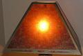 Square Southwestern Mica Lamp Shade - Light On