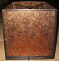 Cube Shape Amber Mica Lamp Shade