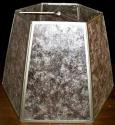 Silver Hexagon Mica Lamp Shade
