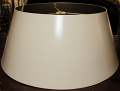 "Cream Metal Bouillotte Lamp Shade 14-19""W"