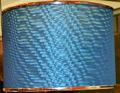 Custom Sleek Blue Drum Lamp Shade