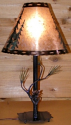 "Pine Cone Needles Mica Lamp 25""H"