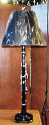 "Clarinet Lamp On Wood Base 29""H"