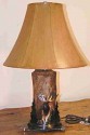 "Custom Elk Trees Firewood Lamp 26""H"