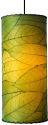 "Cocoa Leaf Drum Pendant Light Green 7""W"