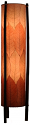 "Burgundy Cocoa Leaf Floor Lamp Round Light 48""H"