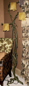 "Cast Verde Bronze Tree Limb Sculpture Floor Lamp 67""H"