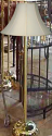"Straight Pole Brass Floor Lamp 58""H"