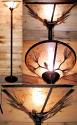 """Bronze Mica Torchiere Floor Lamp 72""""H"""