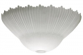 """White Alabaster Glass Torchiere Lamp Shade 16""""Wx7.75""""H"""