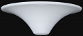 "Stiffel Torchiere Shade White 15""W"