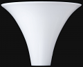 "Stiffel Torchiere Shade White 13.5""W"