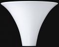 """Stiffel Torchiere Shade White 13.5""""W"""