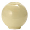 "8""W Buff Tan Ball Glass Lamp Shade"