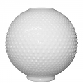 "8""W White Hobnail Ball Glass Lamp Shade"