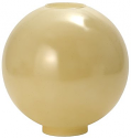 "11""W Buff Tan Ball Glass Lamp Shade"