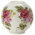 "8""W Satin White Flowers Ball Glass Lamp Shade"