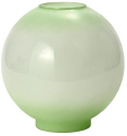 "9""W Green Tint Ball Glass Lamp Shade"