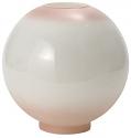 "9""W Pink Tint Ball Glass Lamp Shade"