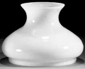 "White Hurricane Glass Shade 7"" Fitter"