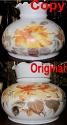 Repainted Replacement Hurricane Glass Shade