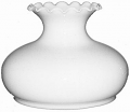 """Second Largest 11.5"""" Bulge White Hurricane Glass Lamp Shade 10"""" Fitter"""