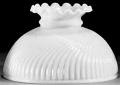 """Swirl White Hurricane Glass Lamp Shade 10"""" Fitter"""